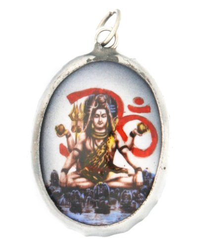Hindu Ceramic Pendant: Om with Shiva