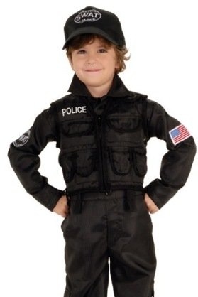 SWAT Police Officer Kids Costume