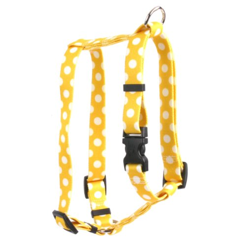 Yellow Dog Design Lemon Polka Dots 14-Feet to 20-Feet Harness, Small/Medium (Yellow Dog Design Harness Medium compare prices)