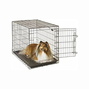 General Cage E-Crate Economy Single Door Folding Portable Dog Crate / Carrier / Kennel - Giant