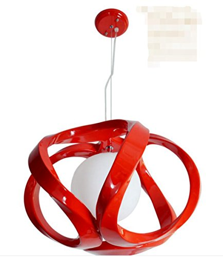 San Tai@Lampada lampadario a sospensione design retrò,rosso,Resina,29.5cm*29.5cm