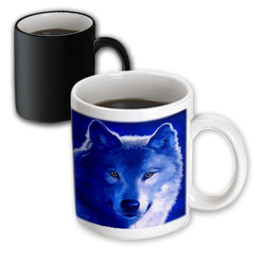 Mug_18916_3 Dezine01 Graphics Animals - Blue Wolf - Mugs - 11Oz Magic Transforming Mug