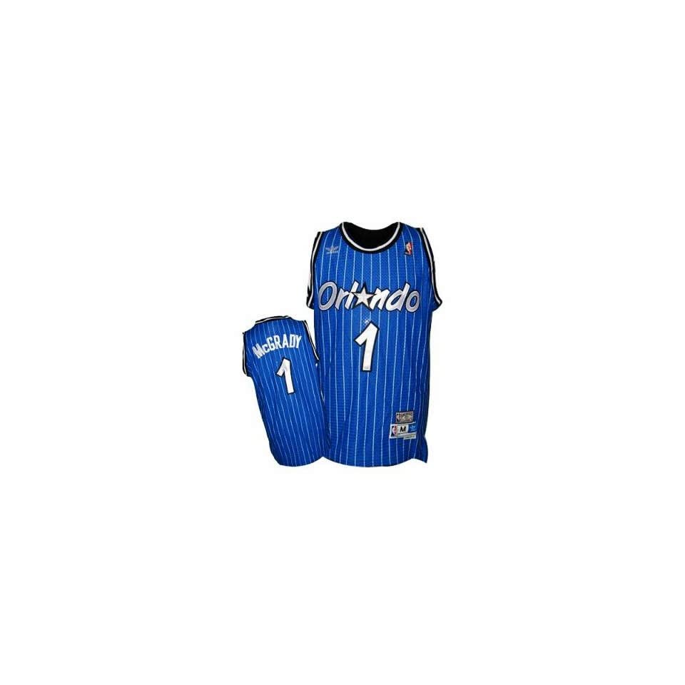 b5ee2a726dbe Orlando Magic  1 Tracy Mcgrady Blue Throwback Jersey on PopScreen