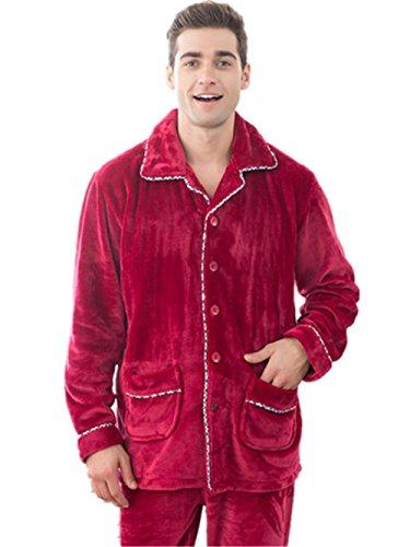 Caldo coppie flanella pigiami spessi signore a maniche lunghe calde e casuale abbigliamento invernale Autunno Uomo , men , m