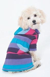 Fashion Pet (Ethical) DFH576PMD Stripe to Stripe Dog Dress, Medium, Pink