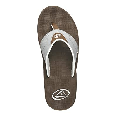 Mens Reef, Playa Negra Thong Sandal GREY BROWN 8 M
