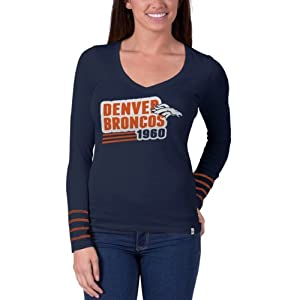 NFL Denver Broncos Ladies Rivalry Long Sleeve T-Shirt, Small by