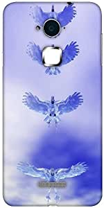 Snoogg eagle z Hard Back Case Cover Shield For Coolpad Note 3 (White, 16GB)