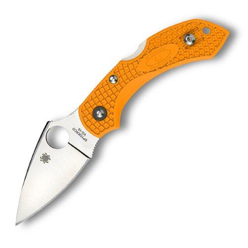 Spyderco Dragonfly2 Lightweight Plain Edge Knife, Orange, Left/Right