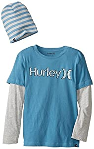 Hurley Big Boys' Jailbird Slider with Beanie, Rift Blue, Small
