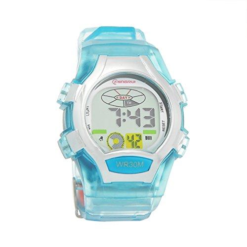 Mingrui Led Waterproof Multifunction Sports Digital Watch For Children Girls Boys Sky Blue