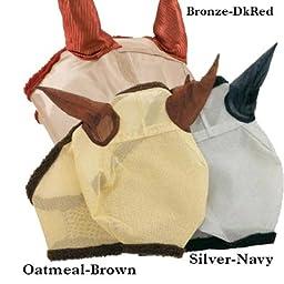 Horseware Amigo Fly Mask with Ears Horse Silver/Na