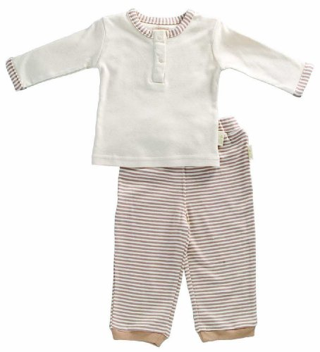 Baby's Store |   Tadpoles Organic Cotton Boys Pant and Top 2 Piece Set , Cocoa, 0-3 Months