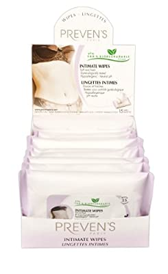 Preven's Intimate Full Size Wipes - 10pc PREPACK