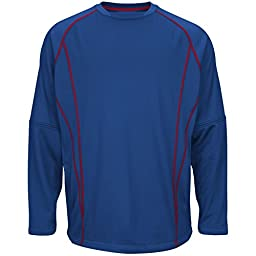Majestic Athletic Majestic Mens Authentic Collection Practice Pullover Navy...
