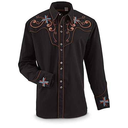 scully-mens-scroll-and-cross-shirt-black-l