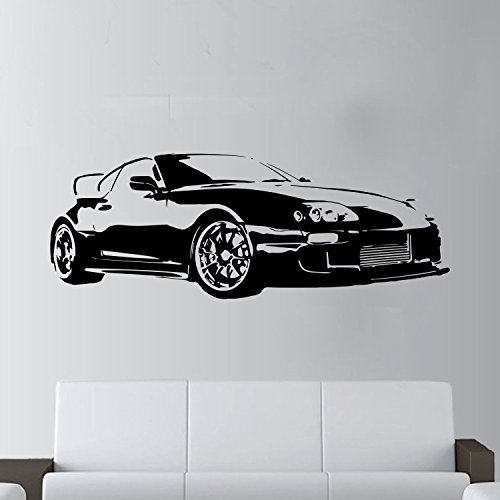 xl gro auto toyota supra sports super gratis rakel art wand sticker aufkleber schwarz black. Black Bedroom Furniture Sets. Home Design Ideas
