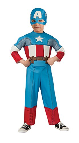 Rubie's Costume Baby Boy's Marvel Classics Avengers Muscle Chest Captain America, Multi, Toddler