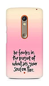 AMEZ be fearless i the pursuit Back Cover For Motorola Moto X Play