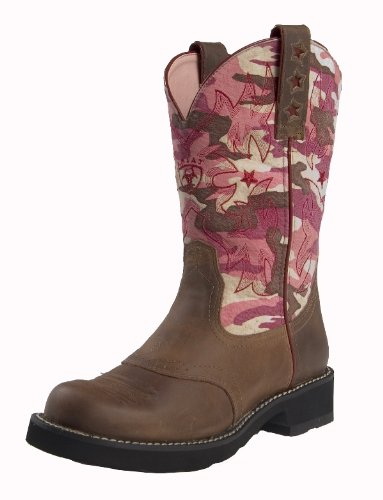 Ariat Women's Probaby Distressed Brown/Pink Camouflage 11