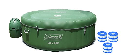Coleman Lay-Z-Spa Inflatable 4-Person Hot Tub with Six Filter Cartridges (Coleman Easy Spa compare prices)