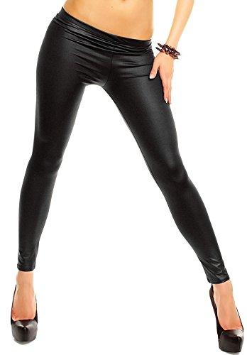 Leggings donna effetto pelle elastici varie taglie. MWS (S/M)