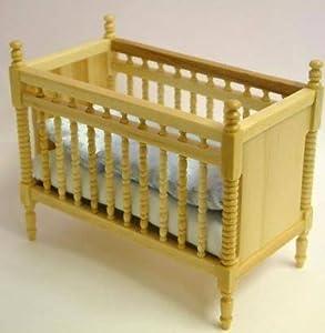 Pine Baby Bed/Crib, Dolls House Miniature