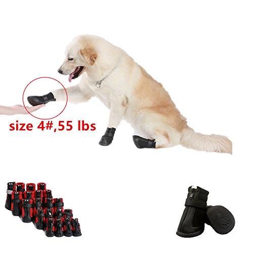 Artikelbild: Namsan Hund Schuhe für Hunde, Wasserdicht und Anti Skid & Snow Hund Winterstiefel für kleinen Hund Schwarz #1 1.7'x1.4'(LxB)