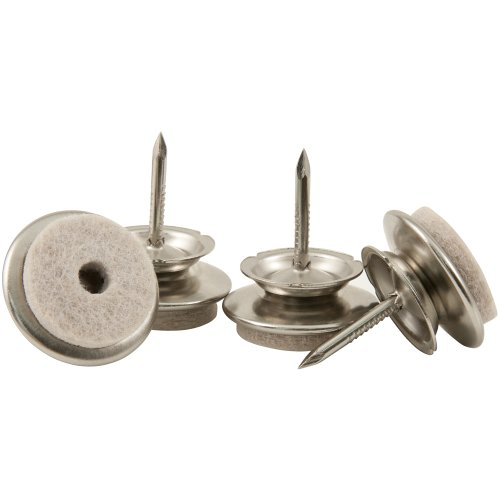 Nail On - 1u0026quot; Swivel Glides with Felt for Straight or Angled Wooden Furniture Legs - (4 pieces ...