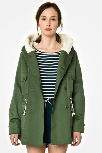 L!VE Shearling Lined Coat