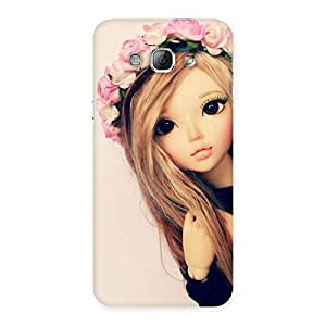 Gorgeous Pink Rose Doll Back Case Cover for Galaxy A8