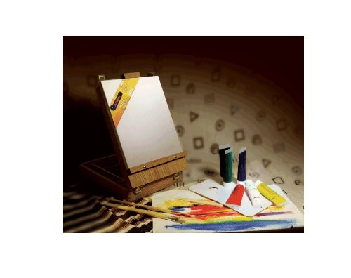 Artist Painting Easel Set, Acrylic Painting Kit Inside Of Beautifully Finished Wooden Box Easel, Includes The Brushes,Canvas, Palette, Palette Knife, And Acrylic Colors