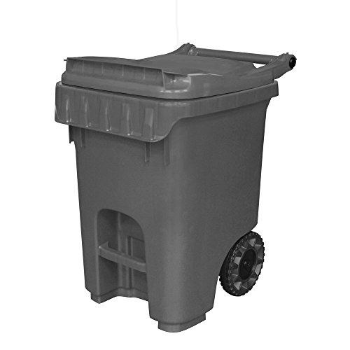 Otto MSD25Egray Edge Heavy Duty Rollout Waste Can, 25 gallon, Grey (Trash Cans With Wheels compare prices)