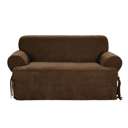this deals sure fit soft suede 1 t cushion sofa