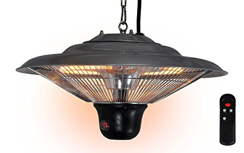411LNX3XjOL - BEST BUY #1 Futura Ceiling Mounted Electric Halogen Outdoor Garden Patio Heater 1500W 3 Heat Settings with Remote Control