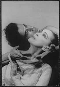 Photo: Portrait of Martha Graham,Bertram Ross,faces touching,in 'Visionary recital'