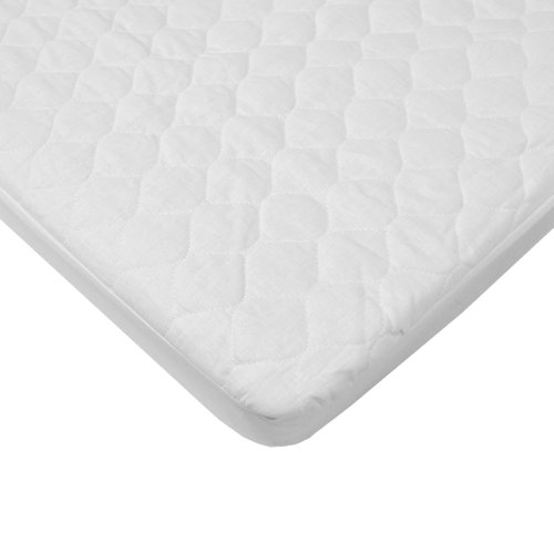 American Baby Company 2766 Waterproof Fitted Quilted Bassinet Mattress Pad Cover (White)