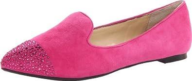 Enzo Angiolini Women's Sersies Flat,Dark Pink,6 M US