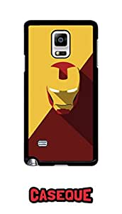 Caseque Minimalistic Iron Man Back Shell Case Cover For Samsung Galaxy Note 4