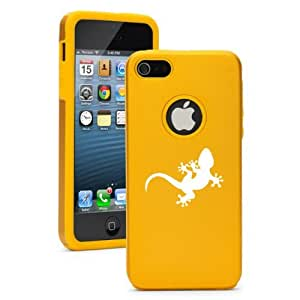 Apple iPhone 5c Yellow Gold CD909 Aluminum & Silicone Case Gecko Lizard