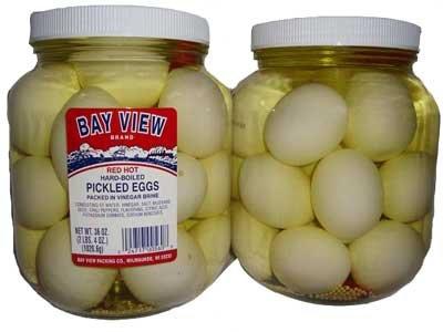 Red Hot Gourmet Pickled EggsJars