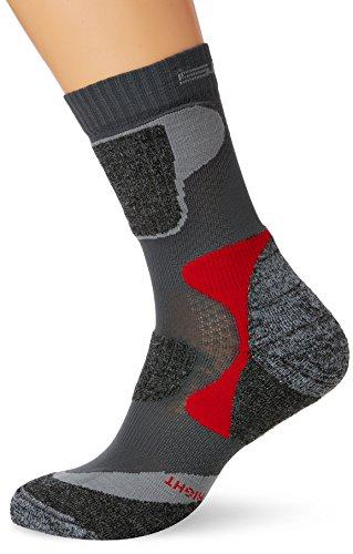 Calze da Trekking Socks SPAIO adulto skin life, Grigio (Grigio / rosso), 44-46