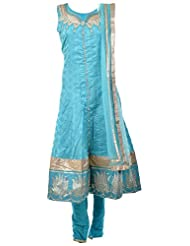 Veda Women's Silk Stitched Salwar Suit Set - B019RQ5G60