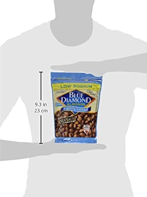 Blue Diamond Almonds, Lightly Salted Low Sodium, 16 Ounce (Pack of 3) by Blue Diamond