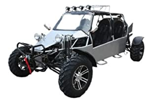 BMS Sand Sniper 1000 SILVER Gas 4 Cylinder 4 Seat Dune Buggy Go Kart
