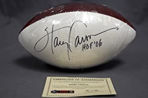 Harry Carson Signed Official Wilson Football Giants Pro Football HOF COA