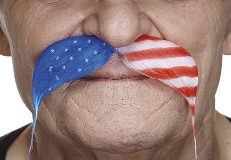 U.S.A. Fu Manchu moustache