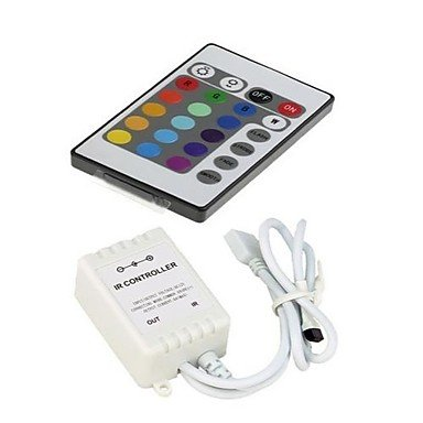 Ch&Ch 24 Keys IR Remote Controller for RGB 3528SMD 5050SMD LED Strip Light (12V 3X2A)