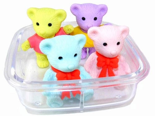 Iwako Japanese Erasers In A Mini Bento Box - Bears