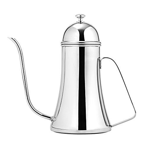 Gooseneck Pour Over Kettle For Coffee or Tea By DAQQ, Stainless Steel, Great Tea/Coffee Lovers Gift